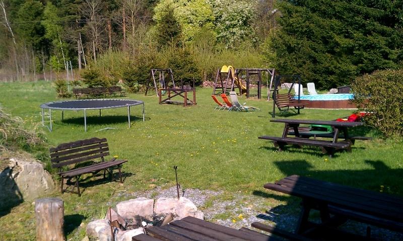 Zahrada za penzionem