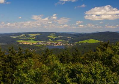 Výhled z Vítkova Hrádku - Frymburk