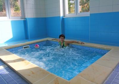 Malý bazén s bublinkami