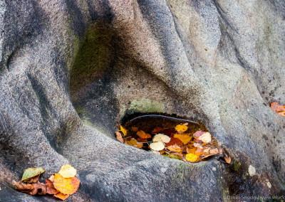 Vymletý balvan v Čertových proudech pod Lipnem