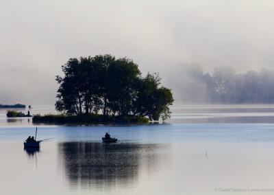 Rybářské ráno na Lipně