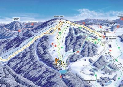 Mapa skiareálu Mitterdorf